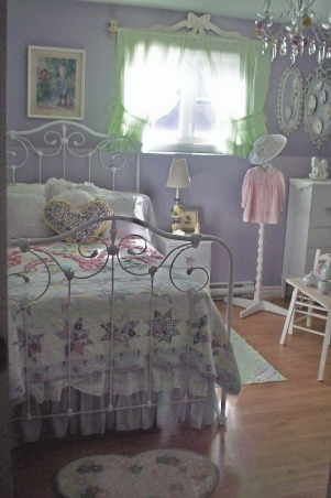 Country Girl Bedroom, This room was put together entirely from second hand finds and total costs of the decor was approx. $200.00, , Bedrooms Design