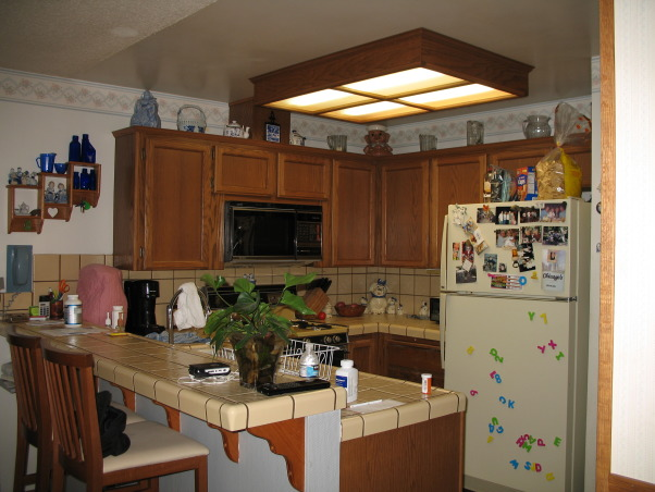 Windowless Kitchen Redo, After many decades a fresh new kitchen at last!!  Rare to find pictures and ideas for small kitchens with no window.  Enjoy! , , Kitchens Design