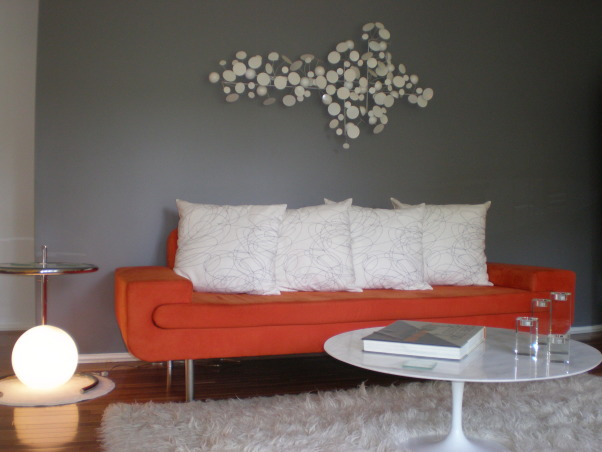 Mid-century Modern Living Room, Boring living room gets freshened up, Living Rooms Design