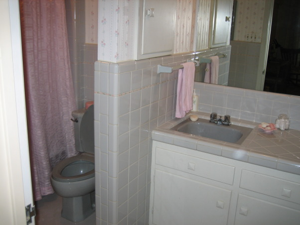From Frumpy to Fun, Purchased 1950's home and have been working hard on the renovations.  Knocked out wall between toilet and sink (see before picture). Shopped sales and had fun selecting accessories while staying on a budget. Will post pictures of other rooms soon. Guess we never quite finish...always a work in progress!  Suggestions appreciated. , Bathrooms
