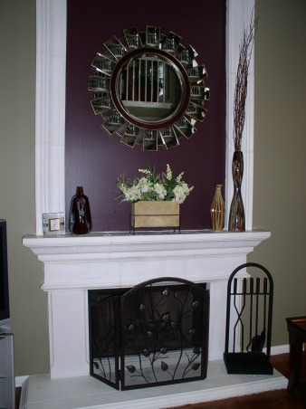 Small Family Room, Potterybarn inspired family room done on a budget!, The fire place soars to the 20 foot ceiling., Living Rooms Design