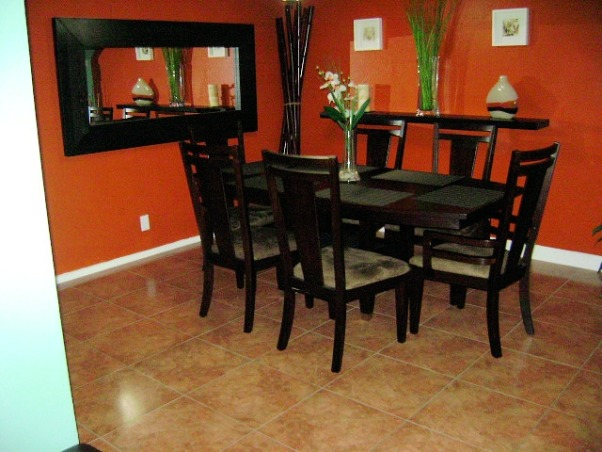 Information about rate my space questions for for Orange dining room design ideas