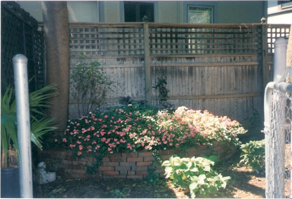 Brick patio for rental property, This is extremely small back yard in a historic neighborhood.  I made this brick patio for my friend.   , , Patios & Decks Design