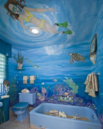 underwater, like living in the sea, , Bathrooms Design