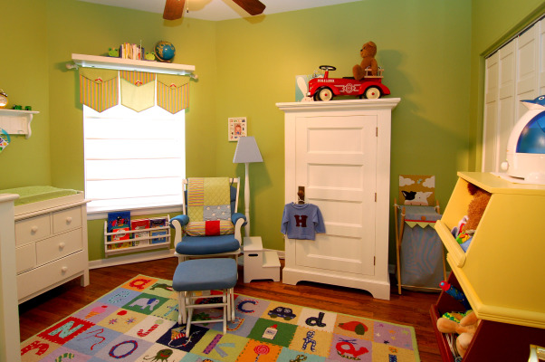Bright, Colorful Nursery, I wanted a fun whimsical room for my son.  I'm not into pastels and I wanted the room to be able to grow with him., Nurseries Design