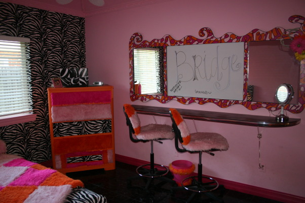 Bridget's Teen Bedroom!!, If you like funky wild and lots of faux fur then you'll love this room!  My daughter made all design decisions---I was just the work horse!  Her friends love it and I do too!, , Girls' Rooms Design