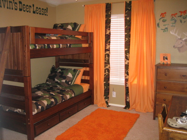 "Gavin's Deer Hunting Room, This is my 4 yr. old son's bedroom. When I asked him what kind of room he wanted he told me he wanted a ""Deer Hunting"" room. I was a little nervous at first but think it turned out pretty cute. Most importantly....he LOVES it!!!, Boys' Rooms Design"