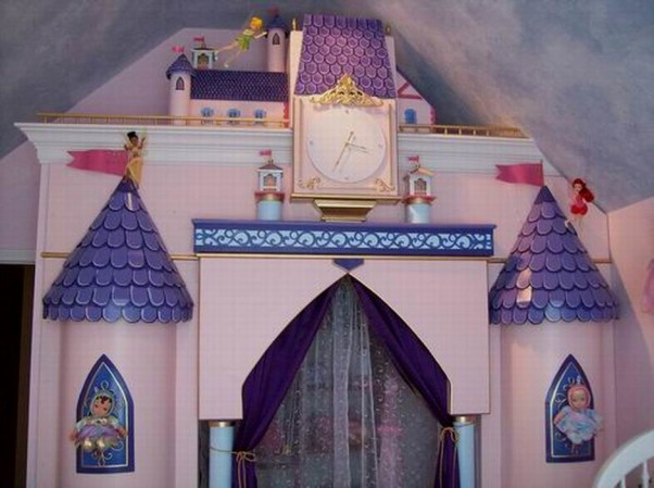Papa Dream Castle, Room designed in our home for our Grandaughter. Princesses Flying Fairies and Castle  Closet Just a room of make believe, DETAILS ARE WHAT COULTS . THE CLOCK OPERATES AND COST LESS THAT 20.00 TO MAKE , Girls' Rooms Design