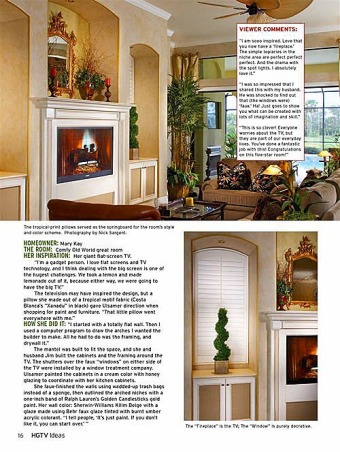 HGTV Ideas magazine photo shoot, Here's the article featuring 4 spaces from RMS by Heather Graulich. I hadn't quite finished the curtains due to a hand injury but who can tell?, Living Rooms Design