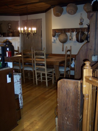 "Country Primitive Dining Room, Here are some pictures of our dining room. I know there is allot to look at...lol But this is the way we like it. I love all the old things....they give me such a ""homey"" feel. We just finished our ""remodel"" on the Dining Room about 6 months ago. Nothing needed to be done but to make this house our home this is what we have done....We add new fixtures boarding up the ceiling & painting the walls & trim. , , Dining Rooms Design"