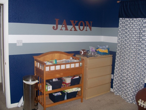 Dallas Cowboys Nursery, This is our son's nursery.  I wanted something that would grow with him or a place one of the older boys would love when the baby was old enough to move into another room.  My kids absolutely love it!!, , Boys' Rooms Design