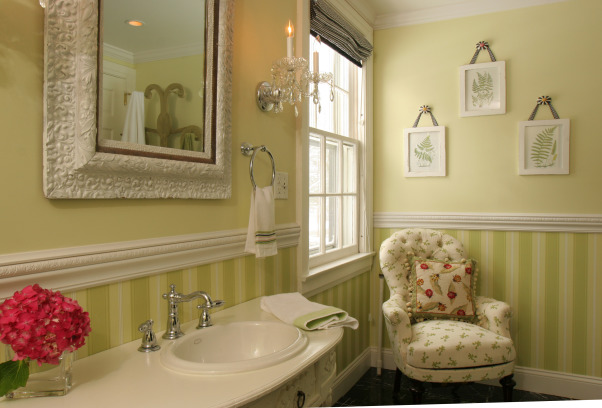 Gardenview Bathroom...recently updated!, Gardenview Bathroom part of a three room suite.  Remodeled early 1900's home completed 2 years ago.  , Potty chair in corner. , Bathrooms Design