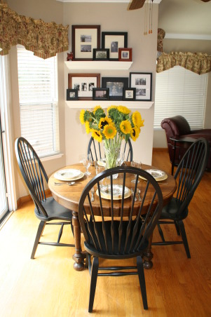 Fall is in the Air, It was such a beautiful fall day today and the table looked so inviting set for breakfast that I just had to share. This is our breakfast nook which is off a large family room.   We eat more meals here than we do our dining room.  Hope you enjoy your visit Happy Fall :-), Dining Rooms Design