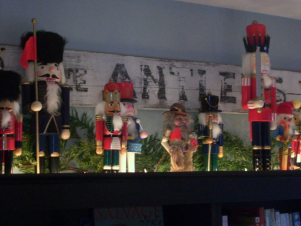I'll be Home for Christmas....., Our home decorated for Christmas 2008.  Visit my HOME Blog at http://itsthelittlethingsthatmakeahouseahome.blogspot.com/ , My husbands collection of Nutcrackers that he started 25 years ago...   , Living Rooms Design