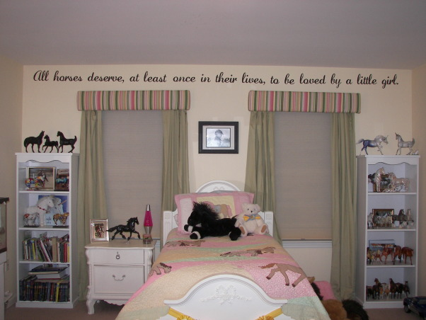 My Daughter's horse theme room, My daughter loves horses! Here is her room so far! Thanks for looking!, , Girls' Rooms Design
