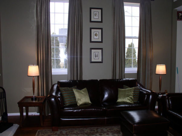 Small Family Room, Potterybarn inspired family room done on a budget!, , Living Rooms Design