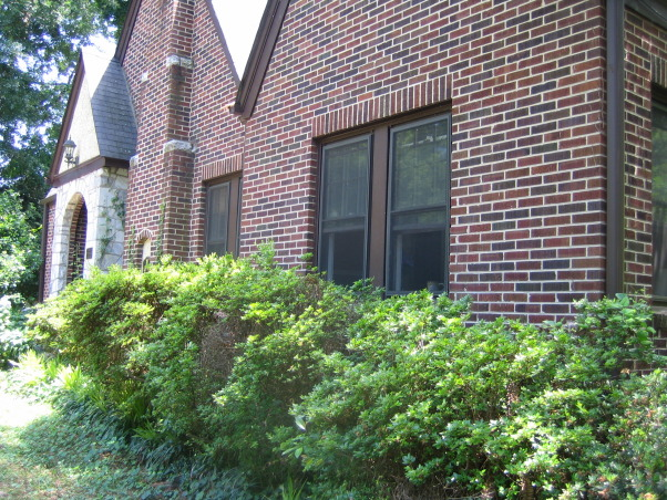 Tudor Revival, 1932 Brick Tudor Revival in need of a little curb appeal at a low cost., , Home Exterior Design