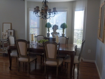 french dining room, soft tones of cream make this an elegant formal dining room, Before renovation, Dining Rooms Design