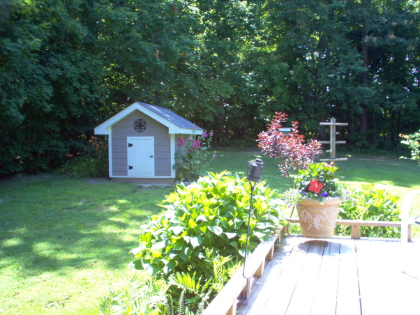 MY LITTLE WELL-HOUSE, For 28 years I lived in the city and dreamed of living in the country where I could have a little well-house with old --fashioned Holihocks growing beside it......and here it is!, , Yards Design
