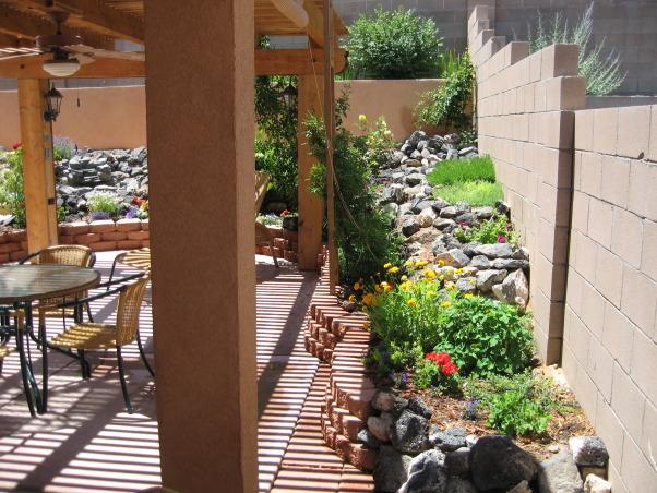 Southwest, Small high desert back yard oasis, Yards Design
