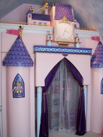 Papa Dream Castle, Room designed in our home for our Grandaughter. Princesses Flying Fairies and Castle  Closet Just a room of make believe, Remove the doors from a closet and build your castle from materials at home improvement center. all for under 1000.00, Girls' Rooms Design