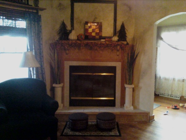 Can I Paint the Tile around my Fireplace???, Please help me with my fireplace!  I would like to paint it a creamy white and possibly paint the tile a darker slate color....can I paint the tile??, , Living Rooms Design