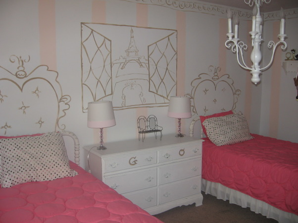 Olivia's paris apartment, Created a room for my daughter that made her feel like she had her own place in Paris., Girls' Rooms Design