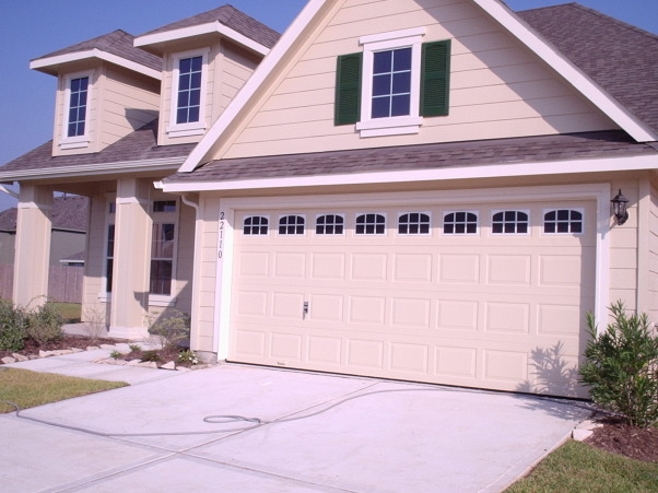 Faux Garage Door Windows From Insta-Windows, Faux Windows Befor And After, Home Exterior Design