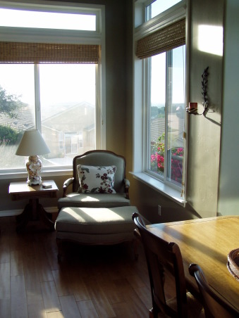 Rooms with a View, Living Room and Added Sun Room  , Added room is small 190 sq.  It is all the space our lot would allow but it adds a powerful punch with the view windows.  Nice reading area., Living Rooms Design
