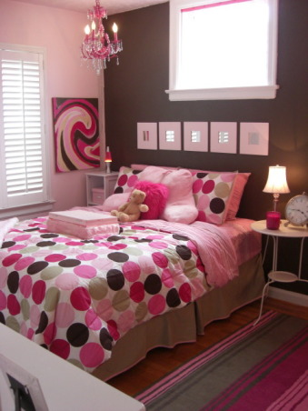 Daughter's Bedroom, This is my 8 year old's daughter's bedroom.  Obviously her favorite color is pink!, This is a very cheap update for my daughter who just turned 10 years old and wanted a tween's room.  The whole thing cost less than $300.00!!  Last year I posted her room so you can take a look at the difference!, Bedrooms Design