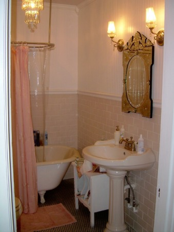 Romantic Bathroom Makeover:), A Beautiful Romantic Chic Bathroom Makeover:), I love this Venetian Glass mirror found it on Ebay!, Bathrooms Design