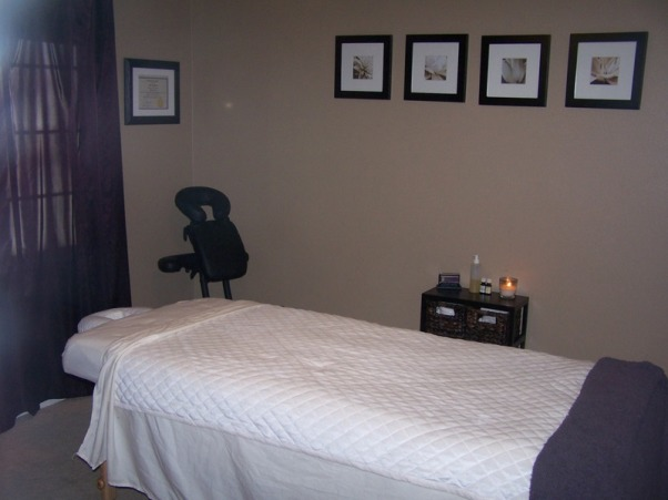 MY MASSAGE ROOM, I AM A MASSAGE THERAPIST AND WORK OUT OF MY HOME THIS IS MY ROOM I JUST PAINTED AND FINISHED TODAY... ANY SUGGESTIONS? , THE PAINT IS FROM LOWES VALSPAR  ULTRA PREMIUM KHAKI , Bedrooms Design