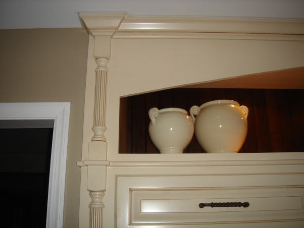"""HGTV RMS Inspiration Room - my new kitchen photos, My kitchen is one of the inspiration rooms on episode #208 of the Rate My Space Show. Thank you Angelo, Jillian and HGTV for choosing my kitchen as an inspiration room. It was quite an honor and a lot of fun being on the show. I renovated my kitchen a couple of years ago. We went from an outdated 1980's kitchen to this. The original kitchen had pickled oak cabinets with white formica countertops. I wish I had taken a """"before"""" picture to show you. The change is remarkable., Here is a close up to show detail of painted glazed cabinets.          , Kitchens Design"""