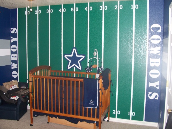 Dallas Cowboys Nursery, This is our son's nursery.  I wanted something that would grow with him or a place one of the older boys would love when the baby was old enough to move into another room.  My kids absolutely love it!!, Boys' Rooms Design
