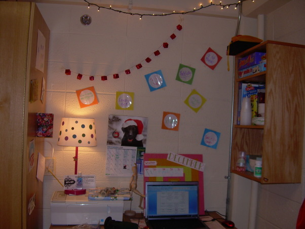 White walls & ugly furniture HELP!!!, So my college dorm room is pretty boring and it's smaller than other rooms because part of the next-door bathroom juts out into the space.  I'm not sure how to rearrange the room... any ideas?  I want this room to be a fun and functional work/play space!, This is the left wall when you walk into the room., Dorm Rooms Design