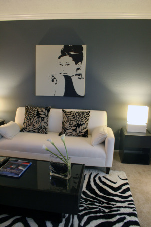 My small Apartment livingroom, Finally took the courage to paint the wall! it's my first time and I'm really proud of it. It framed my white sofa and table lamps very well.  Suggestions and comments are welcome!, Living Rooms Design