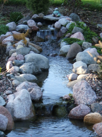 DIY Backyard Koi Pond, Here is our backyard pond that we installed ourselves using Aquascape MicroPond kit.  The pond is home to koi and goldfish., , Yards Design