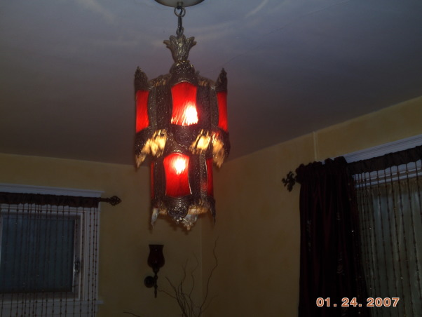 Master bedroom redo on a budget!, Trying to transform an ugly dated space into a retreat.  Still working on it.  Tell me what you think so far!, AFTER: vintage Moroccan light fixture casts a pretty glow. Can you believe I got this at a flea market for $30?, Bedrooms Design