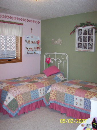 Bedroom for Two Sisters, This room for my two girls (ages 6 and 8) is kind of crowded. I would love anybody's ideas for improving this room., Girls' Rooms Design