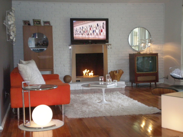 Mid-century Modern Living Room, Boring living room gets freshened up, , Living Rooms Design