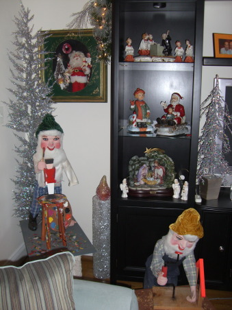 Extreme Christmas Decorating, Christmas at home surrounded by decoarations of today and yesteryear. Vintage ceramics blowmolds glass ornaments animatronics and much much more., , Living Rooms Design