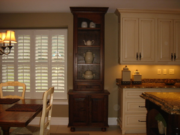"""HGTV RMS Inspiration Room - my new kitchen photos, My kitchen is one of the inspiration rooms on episode #208 of the Rate My Space Show. Thank you Angelo, Jillian and HGTV for choosing my kitchen as an inspiration room. It was quite an honor and a lot of fun being on the show. I renovated my kitchen a couple of years ago. We went from an outdated 1980's kitchen to this. The original kitchen had pickled oak cabinets with white formica countertops. I wish I had taken a """"before"""" picture to show you. The change is remarkable., I have 2 of these tall cabinets one on each side of the window. The upper portion has french wire (chicken wire) in the doors.          , Kitchens Design"""