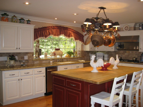 MY UPDATED COUNTRY KITCHEN, A LIITLE PAINT AND TILE DOES WONDERS EVEN ON A BUDGET, Kitchens Design
