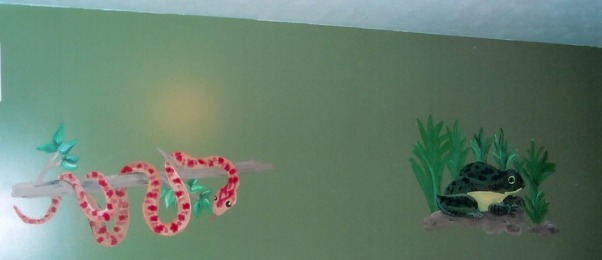 Nate and Mitch's Reptile Room, Handpainted murals of different reptiles.  I painted these for the room my Nephews Nate and Mitchell share., , Boys' Rooms Design