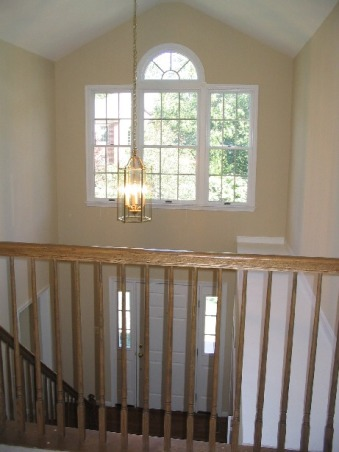 Two-Story Foyer w/ ledge - need ideas please, Beige walls throughout ...