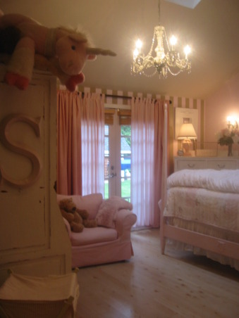 Shabby, Chic, and Pink~9 yr. old daughter's room! NEW UPDATED PICTURES~REPOST!, This is my 9 year old daughter Savannah's room. She has a bigger bed than us who's the princess in this family? This room was an addition when child number 2 came along! My husband and I did all the work including the addition itself. My daughters favorite color is pink so we went with a tan pink and white color scheme. I made all the frames on her wall and painted them to match. It has been fun! , Girls' Rooms Design