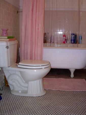 Romantic Bathroom Makeover:), A Beautiful Romantic Chic Bathroom Makeover:), Isn't the tile Beautiful!, Bathrooms Design