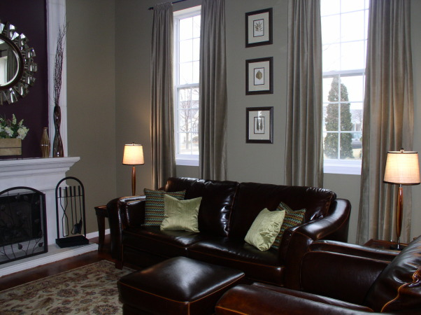 Small Family Room, Potterybarn inspired family room done on a budget!, My small family room is attached to the kichen., Living Rooms Design