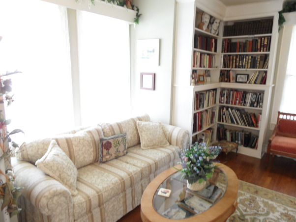 Booklovers Library and Parlor, We wanted to create a booklovers haven with a Southern Garden theme. , Living Spaces