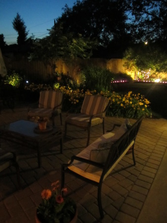 Midwest New Addition & Back Yard, We took our old 1940's Cape Cod and gave it a southwestern facelift by adding adobe stucco, a new patio, and new landscaping.  What a differnce!, Great entertainment space for the evening, Outdoor Spaces